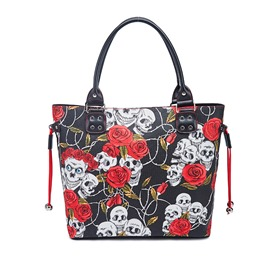 Ericdress PU Thread Skull Rectangle Women's Tote Bags