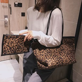 Ericdress Print Canvas Leopard Tote Bags