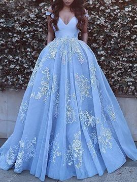 Ericdress Floor-Length Off-The-Shoulder Ball Prom Dress 2020