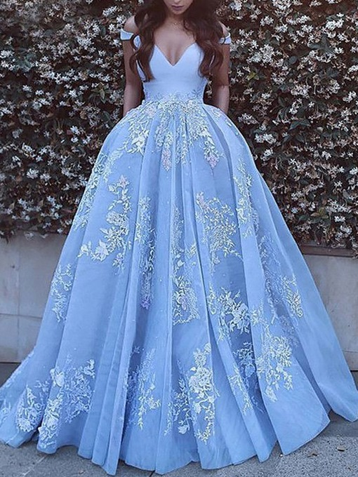 Ericdress Floor-Length Off-The-Shoulder Ball Prom Dress