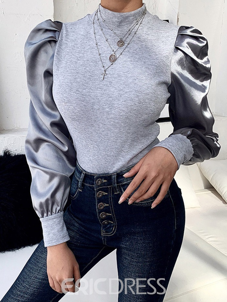Ericdress Puff sleeve Long Sleeve Standard Casual Women's T-Shirt
