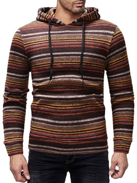 Ericdress Stripe Casual Style Winter Men's Hoodies