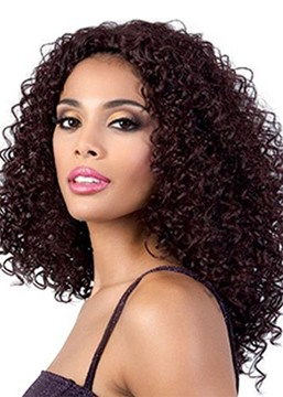 Ericdress Women's Long Length Hairstyles Afro Curly Synthetic Hair Wigs Kinky Curly Capless Wigs 20Inch