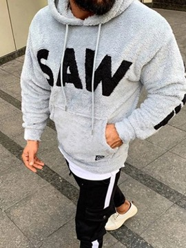 Ericdress Pocket Thick Letter Casual Men's Hoodies
