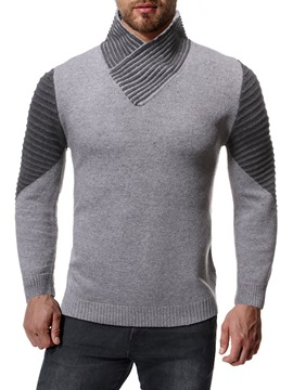 Ericdress Stand Collar Color Block Winter Men's Sweater