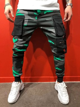 Ericdress Camouflage Overall Pocket Men's Casual Pants