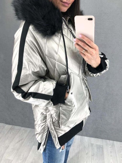 Ericdress Fashion Loose Zipper Mid-Length Cotton Padded Jacket