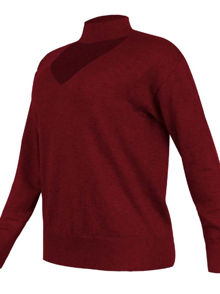 Ericdress Christmas V-neck Regular Long Sleeve Sweater