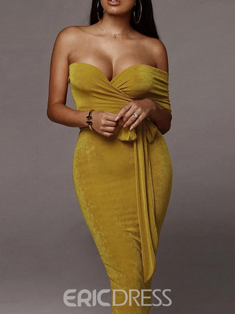 Ericdress Plain Sexy Bodycon Party/Club Two Piece Sets