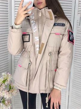 Ericdress Zipper Straight Thick Mid-Length Cotton Padded Jacket