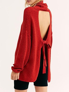 Ericdress Christmas Regular Backless Loose Long Sleeve Sweater