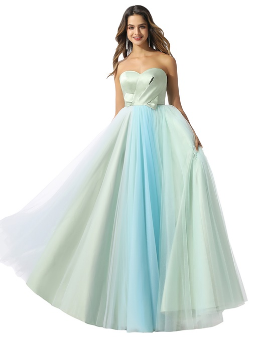 Ericdress Pleats Sweetheart Sleeveless Floor-Length Prom Dress
