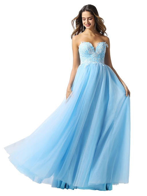 Ericdress Floor-Length A-Line Sleeveless Sweetheart Prom Dress