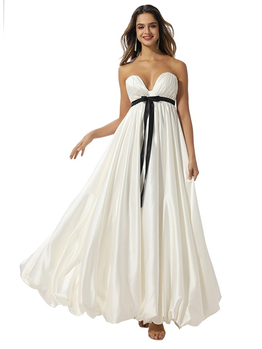 Ericdress Sweetheart Sleeveless Pleats A-Line Prom Dress