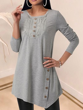 Ericdress Indoor Mid-Length Long Sleeve Loose T-Shirt