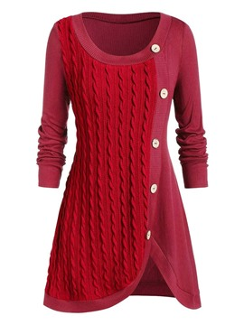 Ericdress Regular Patchwork A Line Casual Sweater