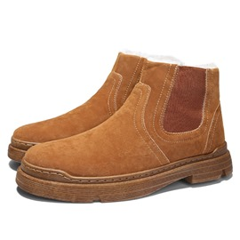 Ericdress Slip-On Round Toe Plain PU Snow Boots