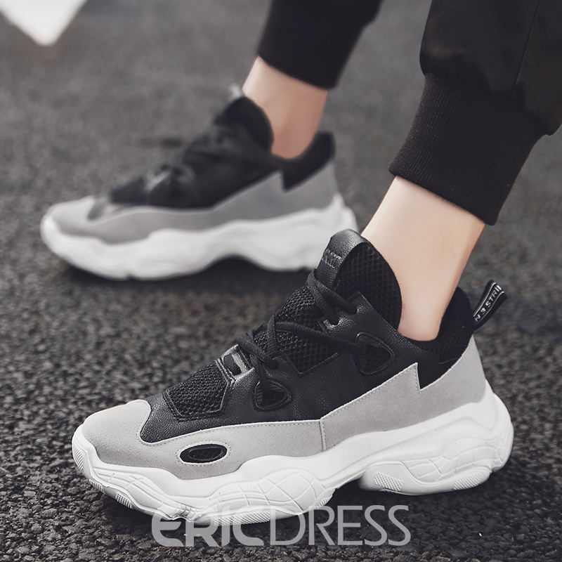 Ericdress Patchwork Round Toe Men's Chic Sneakers