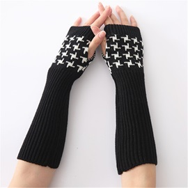 Ericdress Houndstooth Casual Fall Gloves