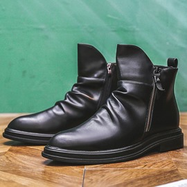 Ericdress Side Zipper Round Toe Plain PU Men's Boots
