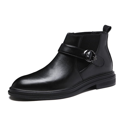 Ericdress Plain Round Toe PU Casual Ankle Boots