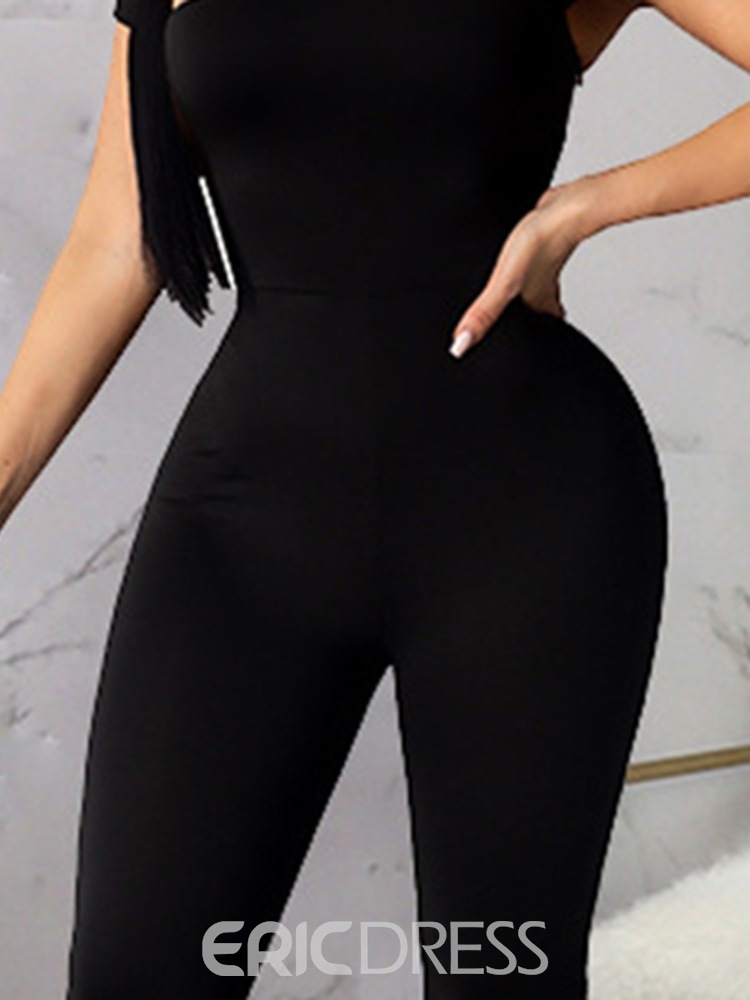 Ericdress Backless Full Length Sexy Slim High Waist Jumpsuit