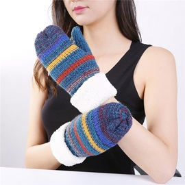Ericdress Casual Stripe Winter Warm Gloves