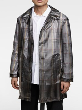 Ericdress Button Mid-Length Loose Casual Style Men's Trench Coat
