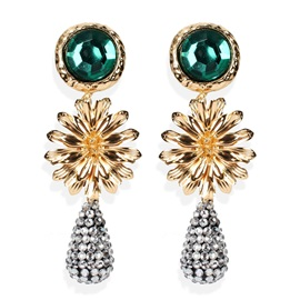 Ericdress Alloy Water Drop Birthday Earrings