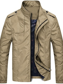 Ericdress Zipper Stand Collar Thin Style Men's Jacket