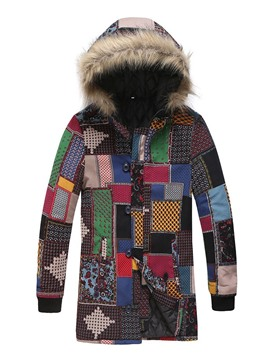 Ericdress Hooded Color Block Print European Men's Down Jacket