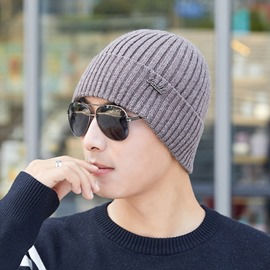 Ericdress Casual Knitted Brimless Winter Warm Hats