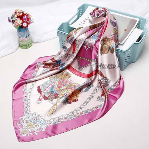 Ericdress Charmeuse Print Cartoon Vintage Women's Scarves