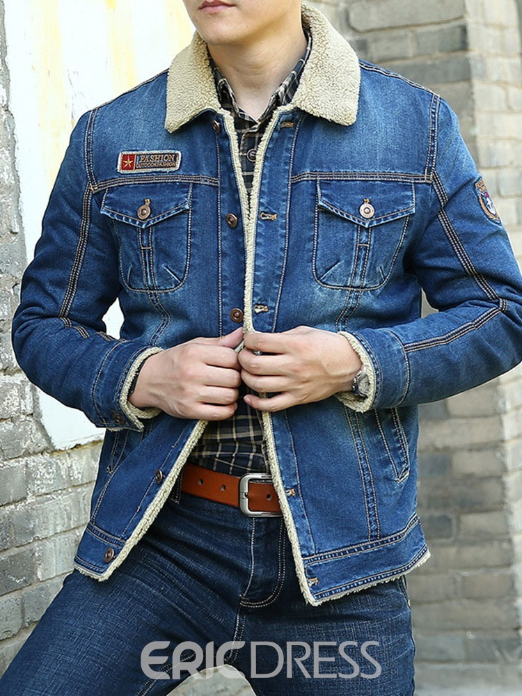 Ericdress Thick Lapel Button Loose Casual Men's Jacket