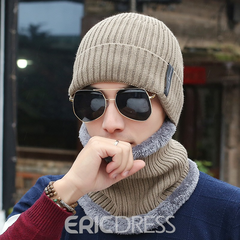 Ericdress Knitted Casual Winter Warm Men's Hats