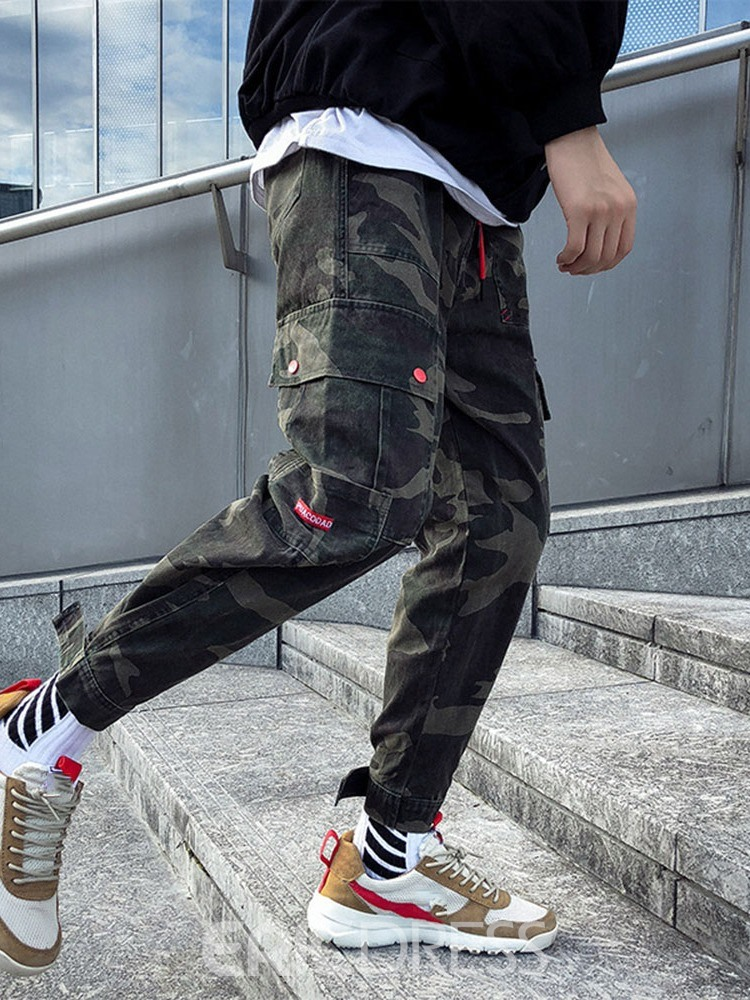 Ericdress Pocket Camouflage Color Men's Casual Pants