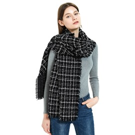 Ericdress Acrylic Tassel Plaid Warm Women's Scarves
