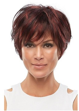 Ericdress Women's Short Length Pixie Boy Cut Hairstyles Straight Synthetic Hair Wigs Capless Wigs 12Inch