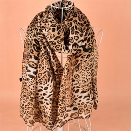 Ericdress Cotton Leopard Charm Women's Scarf