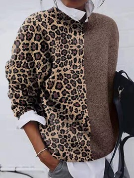 Ericdress Regular Loose Leopard Sweater