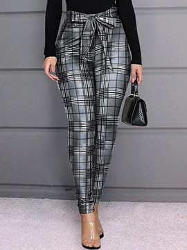 Ericdress Slim Bowknot Full Length Pencil Pants Casual Pants