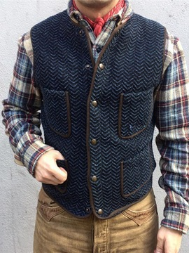 Ericdress Thick Round Neck Pocket Style Casual Men's Waistcoat