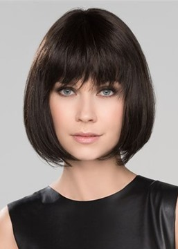 Ericdress Short Bob Hairstyles Women's Natural Looking Straight Synthetic Hair Wigs With Bangs Capless Wigs 12Inch