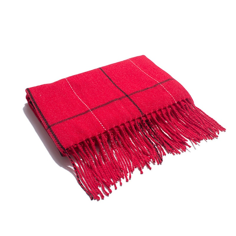 Ericdress Tassel Imitation Cashmere Casual Plaid Scarf