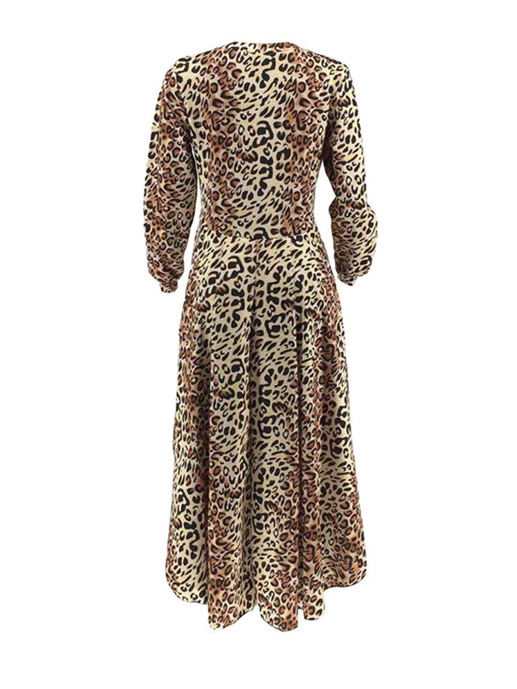 Ericdress African Fashion Leopard Regular Patchwork Long Sleeve Long Blouse