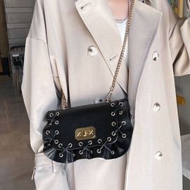 Ericdress PU Chain Plain Rectangle Casual Crossbody Bags