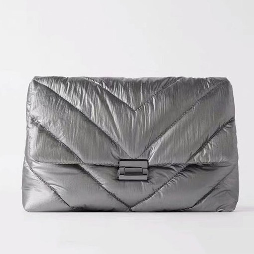 Ericdress Plain Quilted Lining PU Rectangle Shoulder Bags