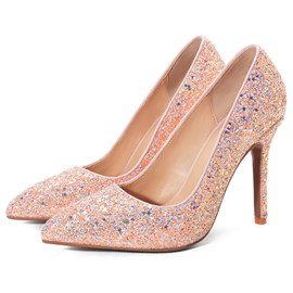 Ericdress Thread Stiletto Heel Pointed Toe Sweet Pumps