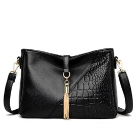 Ericdress Alligator Embossing PU Rectangle Women's Crossbody Bags