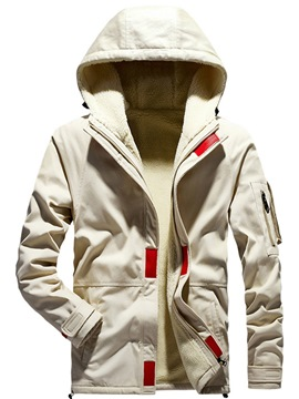 Ericdress Hooded Zipper Artificial Fleece Casual Men's Jacket